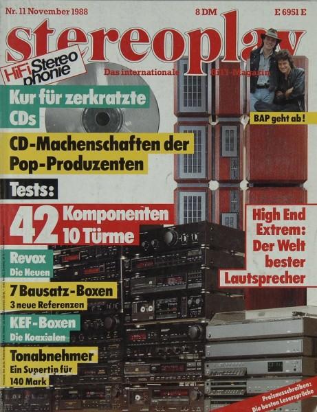 Stereoplay 11/1988 Zeitschrift