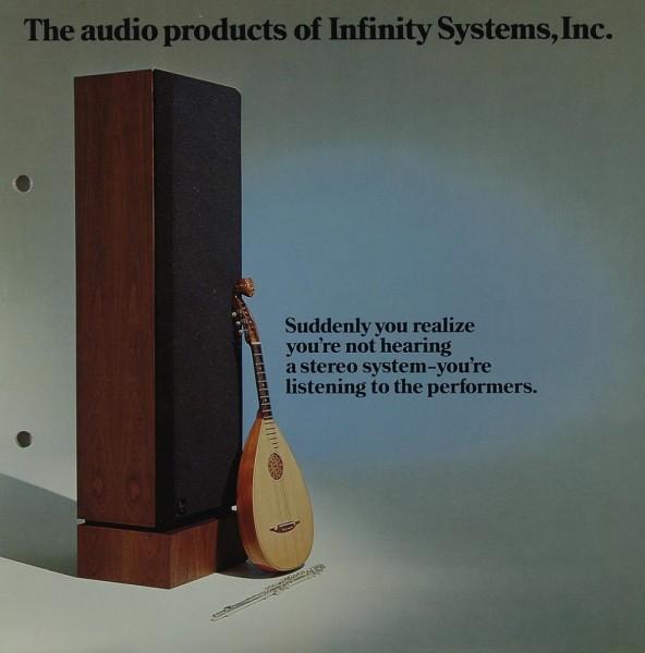 Infinity The audio products of Infinity, Inc. Prospekt / Katalog