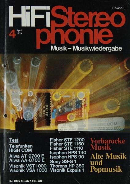 Hifi Stereophonie 4/1979 Zeitschrift