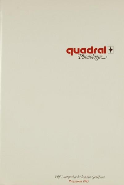 Quadral Programm 1985 Prospekt / Katalog