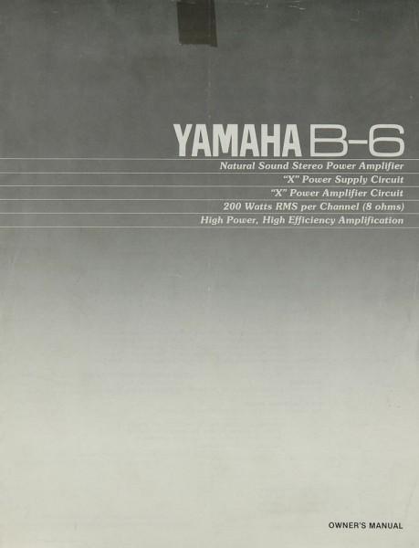 Yamaha B-6 Bedienungsanleitung