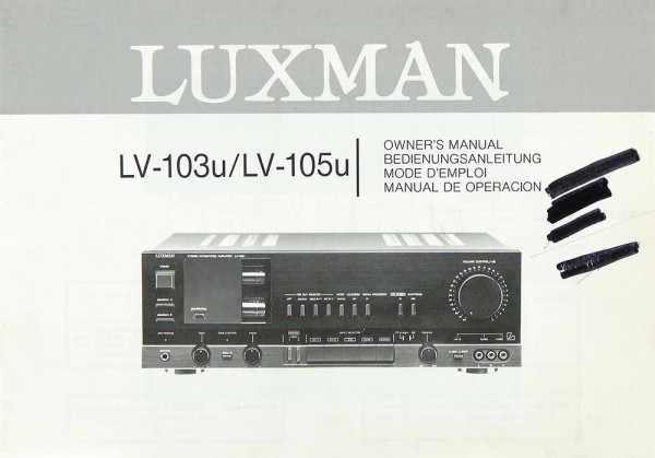 Luxman LV-103 u / LV-105 u Bedienungsanleitung