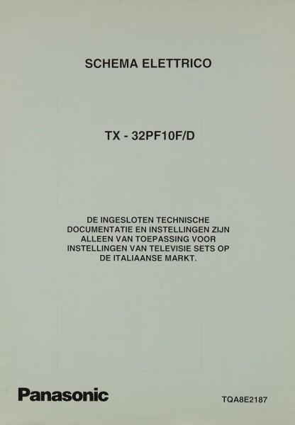 Panasonic TX-32 PF10 F/D Schaltplan / Serviceunterlagen | TV ...