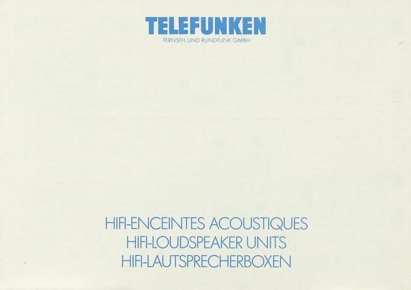 Telefunken HL 700 / HL 800 / HL 850 Bedienungsanleitung
