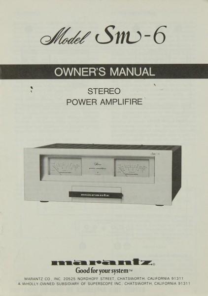 Marantz SM-6 Bedienungsanleitung