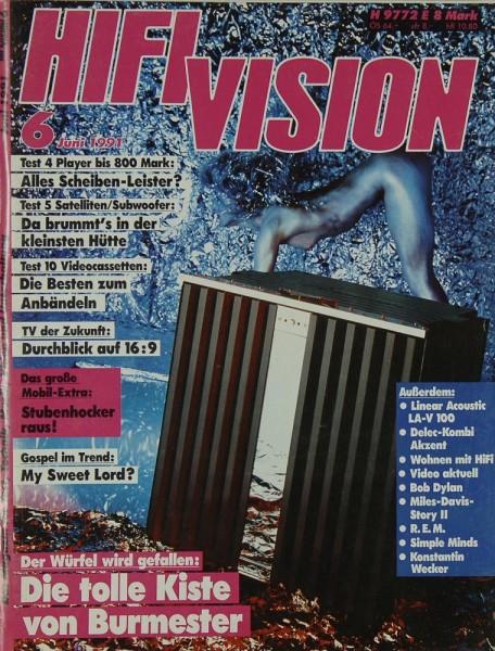 Hifi Vision 6/1991 Zeitschrift