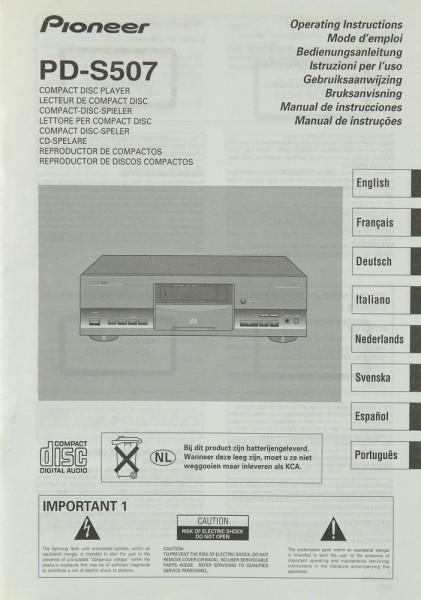 Pioneer PD-S 507 Bedienungsanleitung