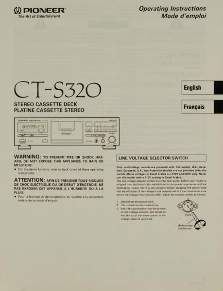 Pioneer CT-S 320 Bedienungsanleitung