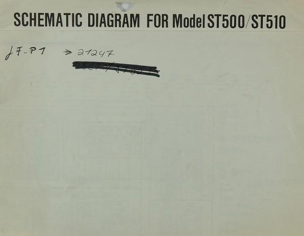 Marantz Model ST 500 / ST 510 Schaltplan / Serviceunterlagen