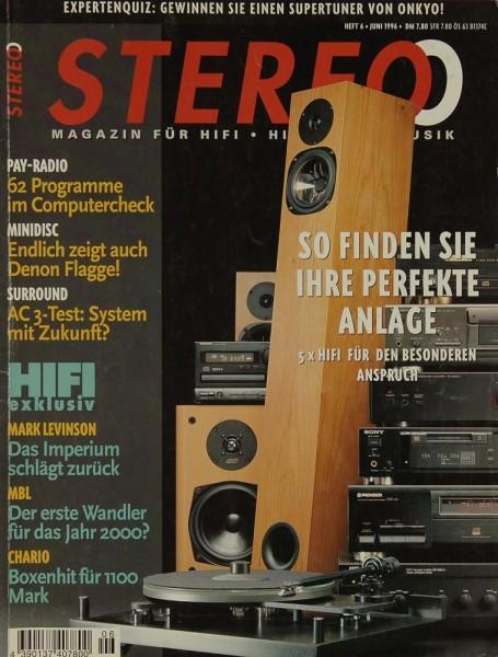 Stereo 6/1996 Zeitschrift
