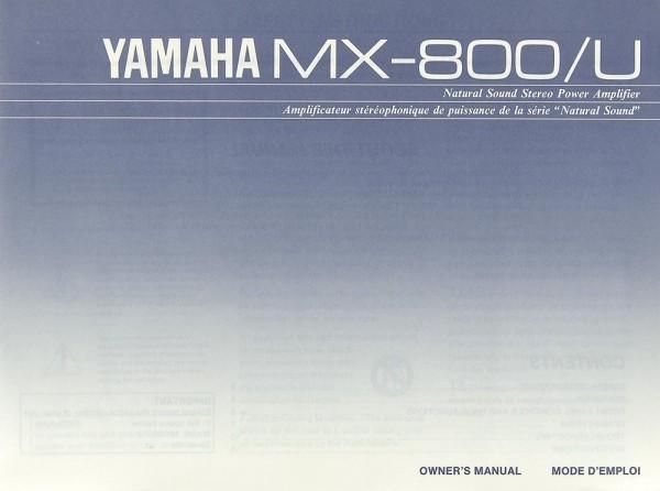 Yamaha MX-800/U Bedienungsanleitung