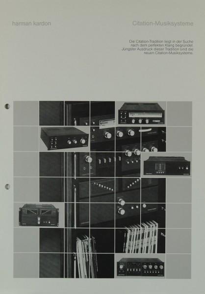 Harman / Kardon Citation-Musiksysteme Prospekt / Katalog
