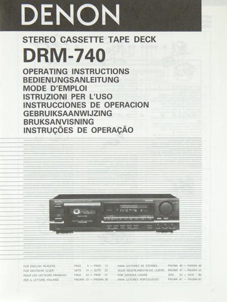 Denon DRM-740 Bedienungsanleitung