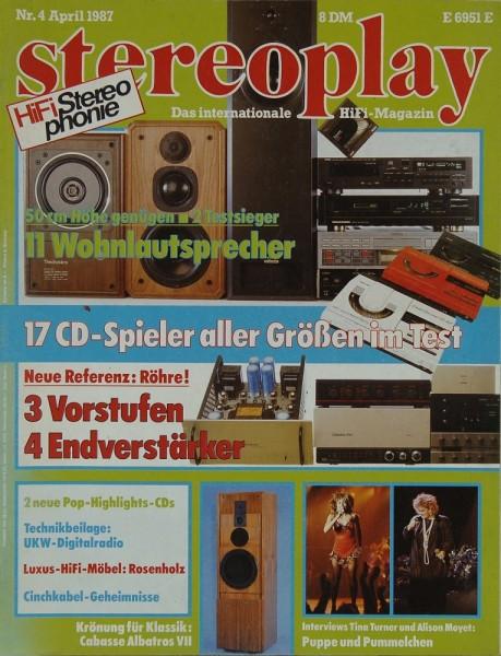Stereoplay 4/1987 Zeitschrift