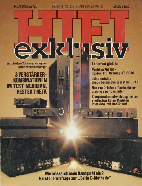 Hifi Exklusiv 3/1981 Zeitschrift