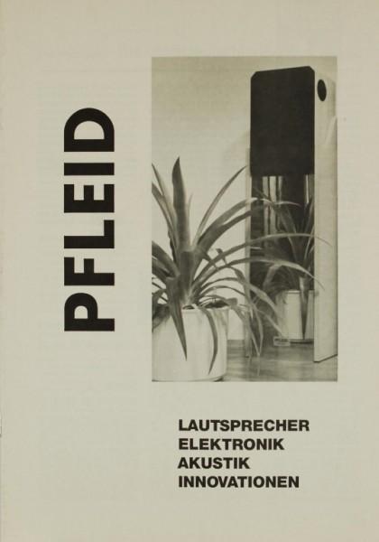 Pfleid Lautsprecher / Elektronik / Akustik / Innovationen Prospekt / Katalog