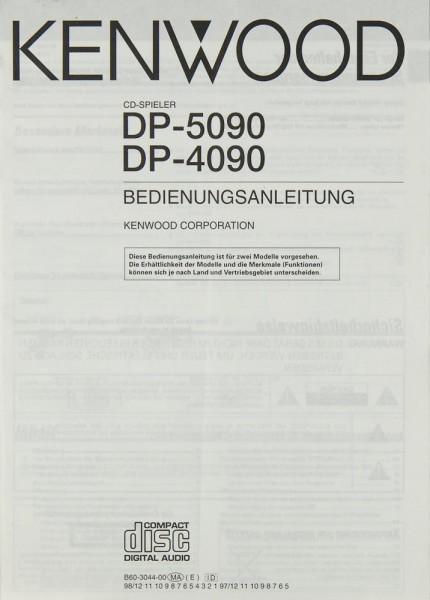 Kenwood DP-5090 / DP-4090 Bedienungsanleitung