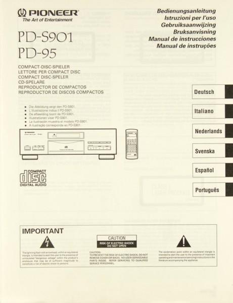 Pioneer PD-S 901 / PD-95 Bedienungsanleitung