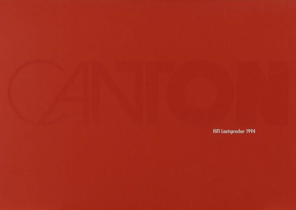 Canton HiFi Lautsprecher 1994 Prospekt / Katalog
