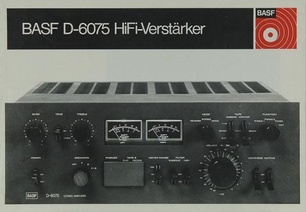 BASF D-6075 Bedienungsanleitung