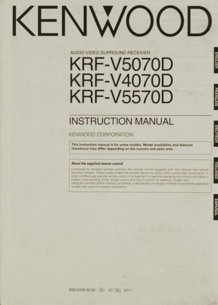 Kenwood KRF-V 5070 D / KRF-V 4070 D / KRF-V 5570 D Bedienungsanleitung
