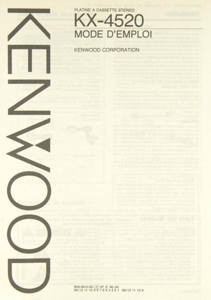 Kenwood KX-4520 Bedienungsanleitung