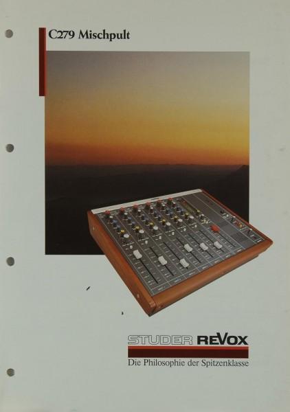 Revox C 279 Prospekt / Katalog