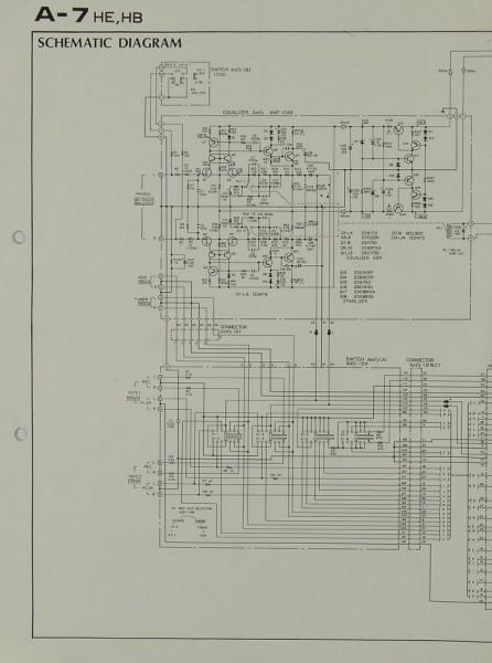 Pioneer A-7 Schaltplan / Serviceunterlagen
