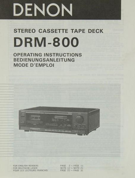 Denon DRM-800 Bedienungsanleitung