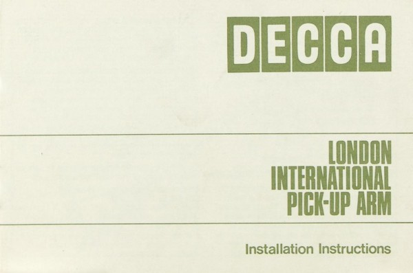 Decca London International Bedienungsanleitung