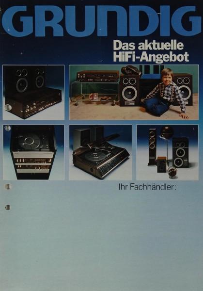 Grundig Das aktuelle Hifi-Angebot Prospekt / Katalog