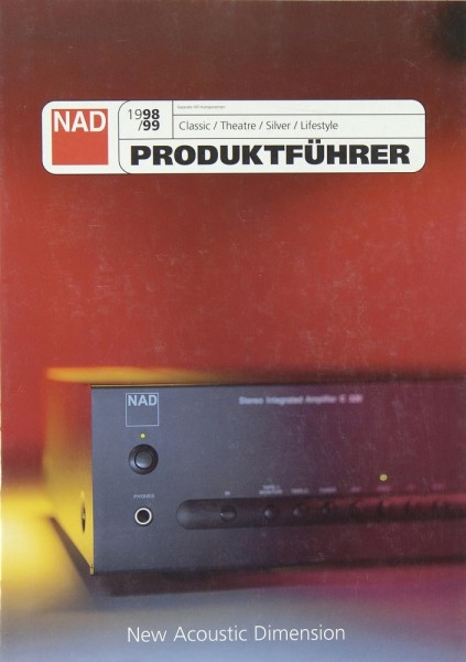NAD Gesamtkatalog 1998/1999 Prospekt / Katalog