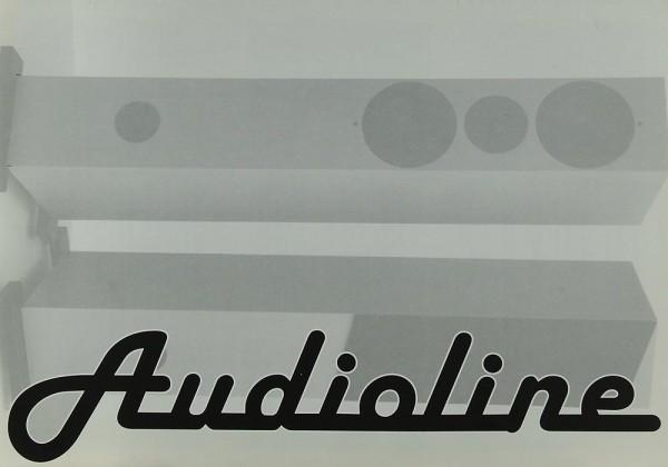 Audioline 1 / 2 / 3 (Lautsprecher, Ständer, Rack & Kabel) Prospekt / Katalog