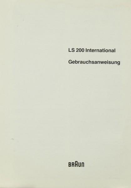 Braun LS 200 International Bedienungsanleitung