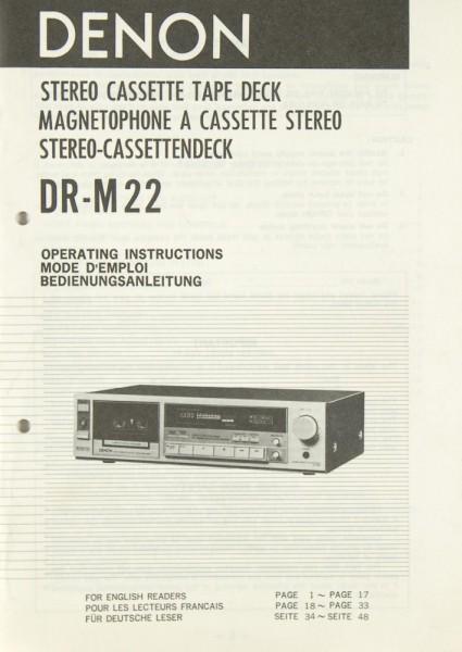 Denon DR-M 22 Bedienungsanleitung