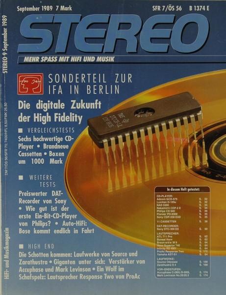 Stereo 9/1989 Zeitschrift