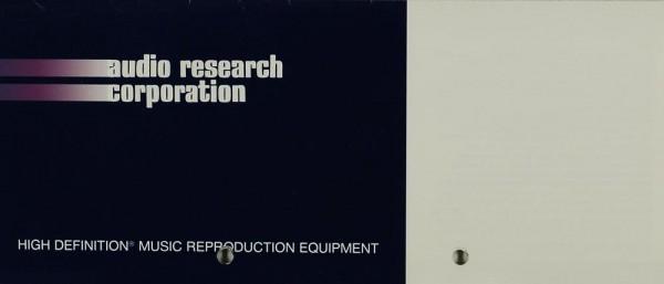 Audio Research Corporation High Definition Music Reproduction Equipment Prospekt / Katalog