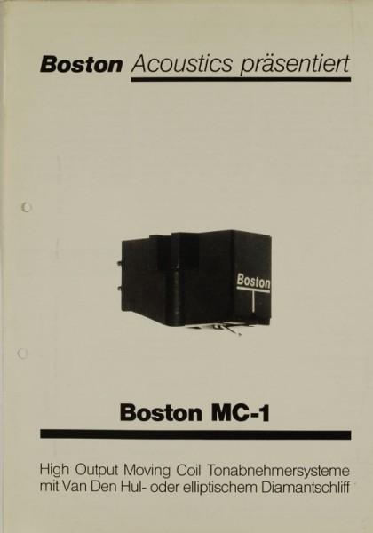Boston Acoustics BostonMC-1 Prospekt / Katalog
