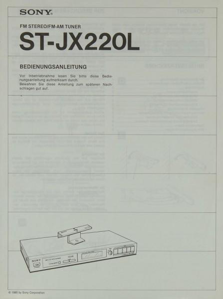 Sony ST-JX 220 L Bedienungsanleitung