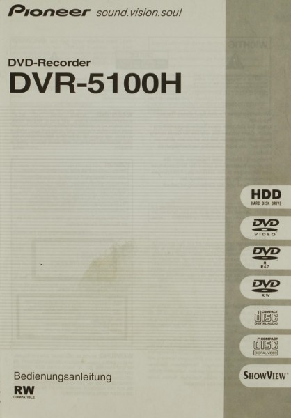 Pioneer DVR-5100 H Bedienungsanleitung