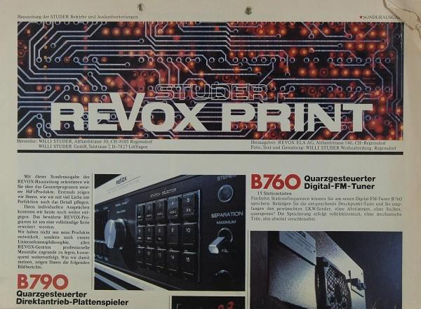 Revox Studer Revox Print Prospekt / Katalog