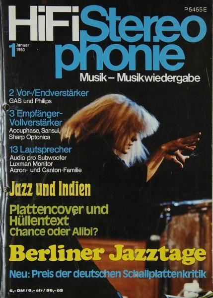 Hifi Stereophonie 1/1980 Zeitschrift