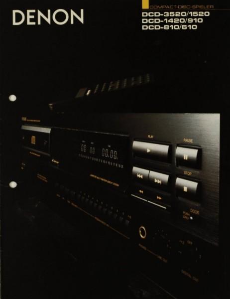 Denon DCD-3520/1520 / DCD-1420/910 / DCD- 810/610 Prospekt / Katalog
