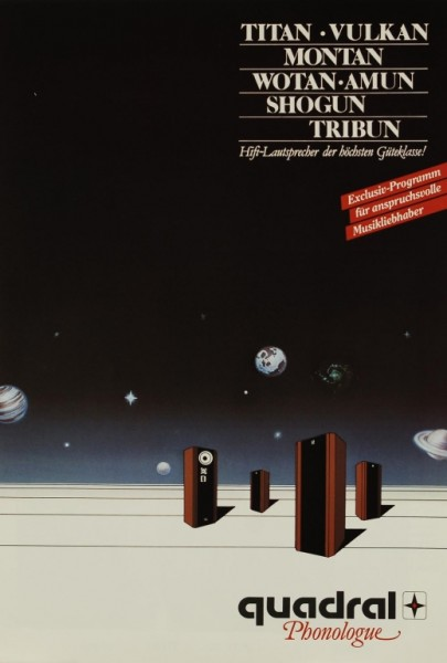 Quadral Titan/Vulkan/ Montan/Wotan/Amun/Shogun/Tribun Prospekt / Katalog