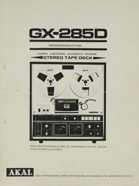Akai GX-285 D Bedienungsanleitung