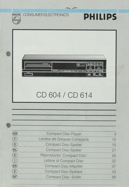 Philips CD 604 / CD 614 Bedienungsanleitung