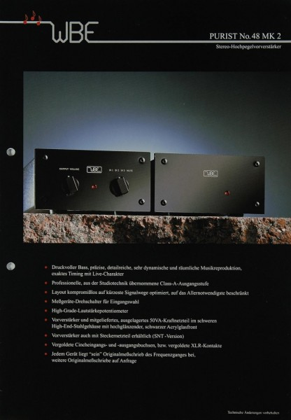 WBE Purist No. 48 MK 2 Prospekt / Katalog