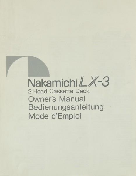 Nakamichi LX-3 Bedienungsanleitung