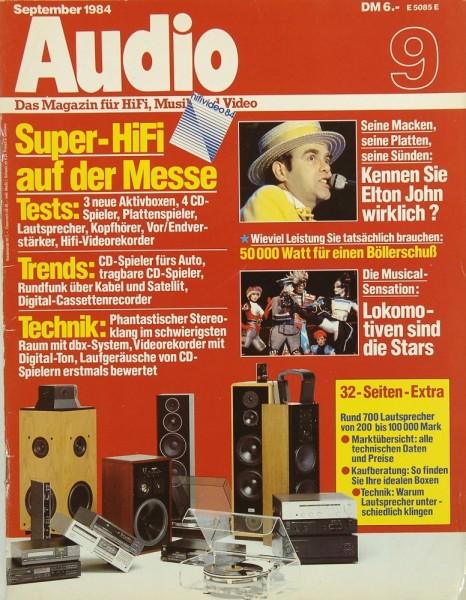 Audio 9/1984 Zeitschrift