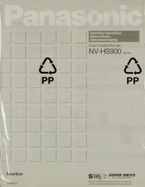 Panasonic NV-HS 900 Series Manual
